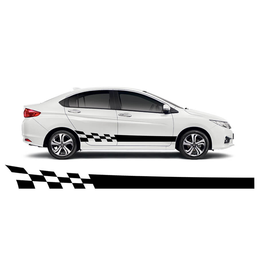 Side racing stripes car sticker 4fancyfans
