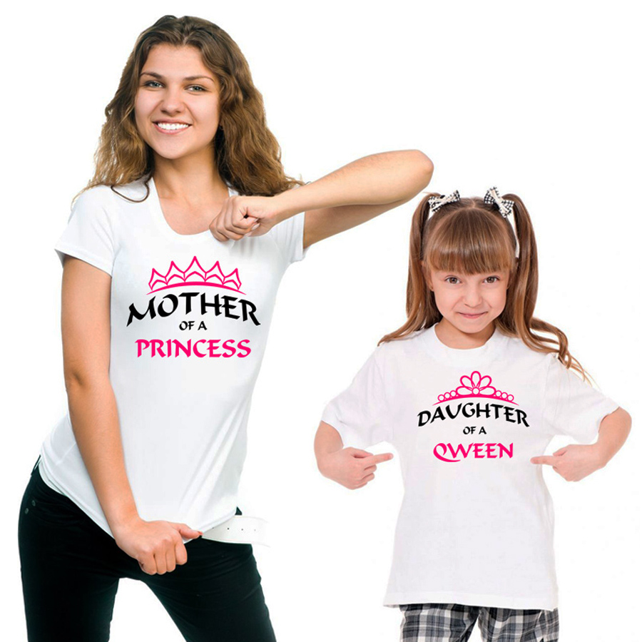 9631572b0 Mother of Princess and Daughter of Queen - Family T-Shirts Set - 4FancyFans