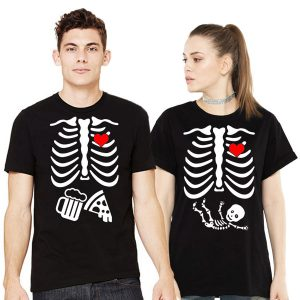d894bd7d Couple Skeleton – Couples Halloween T-Shirts